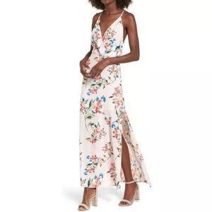 Lush Floral maxi dress NWT
